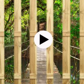 montage tuinposter foto lamellen onzichtbare bevestiging